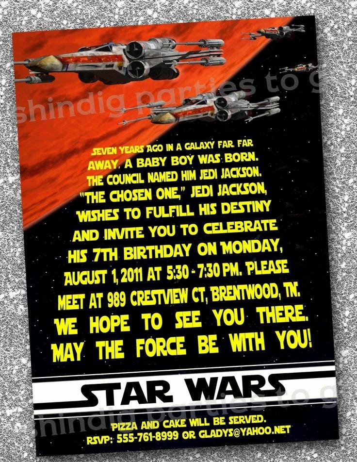 Star Wars Invitations Template Unique Star Wars Birthday Invitations Templates Free