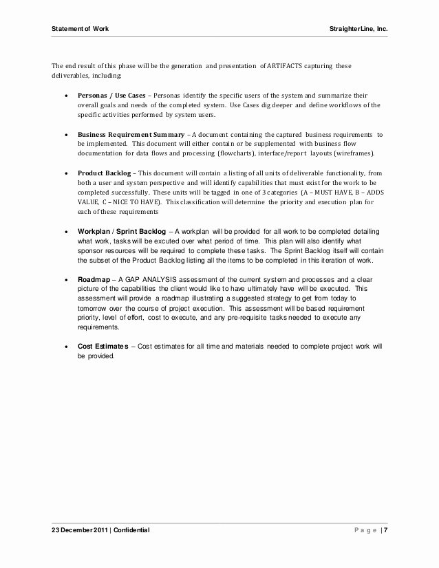 Statement Of Work Template Beautiful software Project Statement Of Work Document Sample