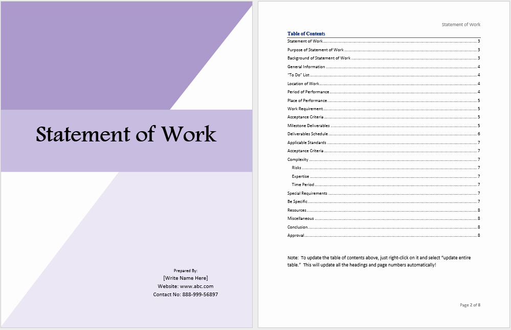 Statement Of Work Template Inspirational Statement Of Work Template Ms Fice Documents