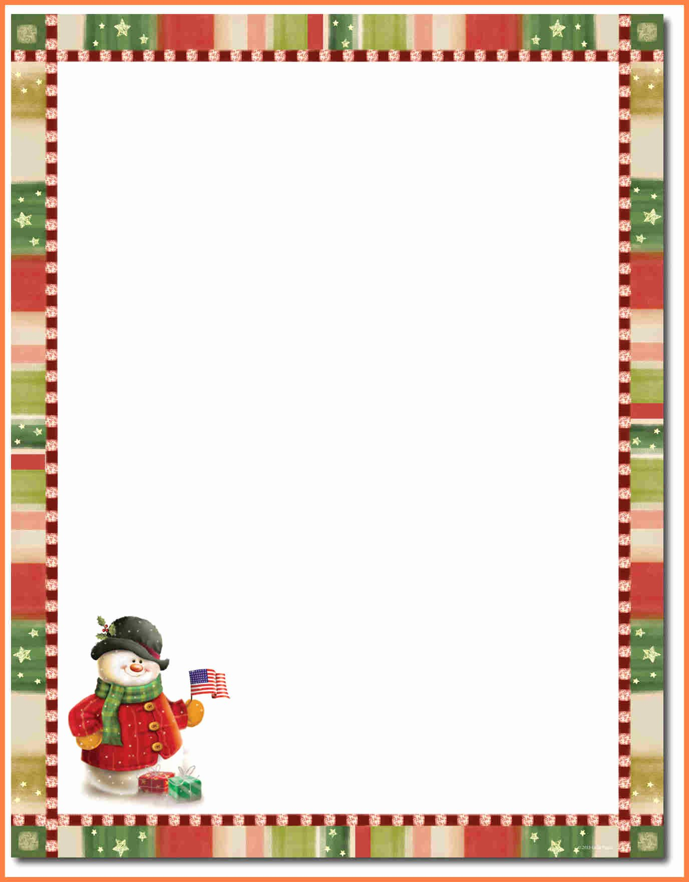 best of christmas letterhead template 2
