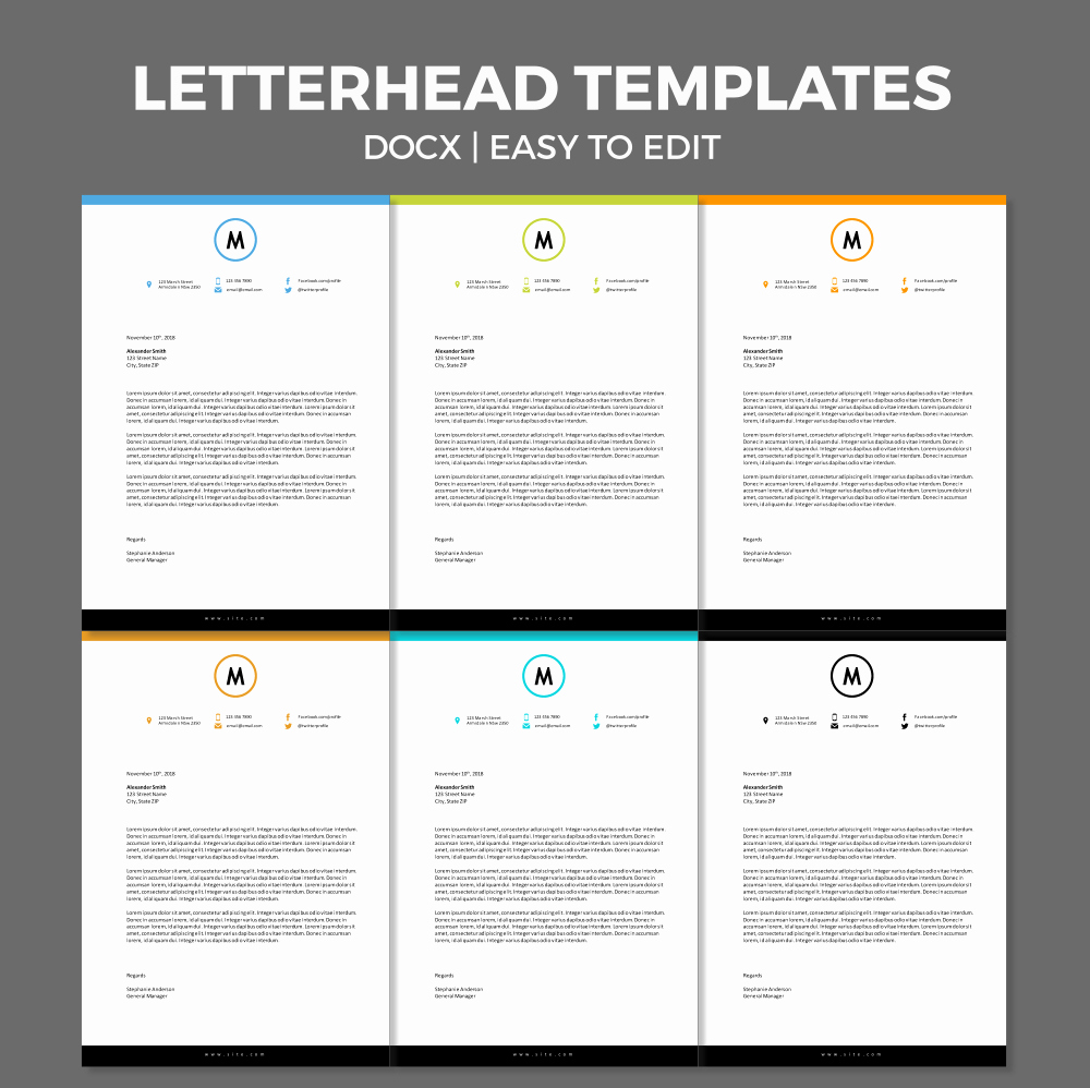 Stationary Template for Word Inspirational Free Modern Letterhead Template for Ms Word