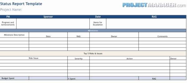 Status Report Template Excel Beautiful Status Report Template