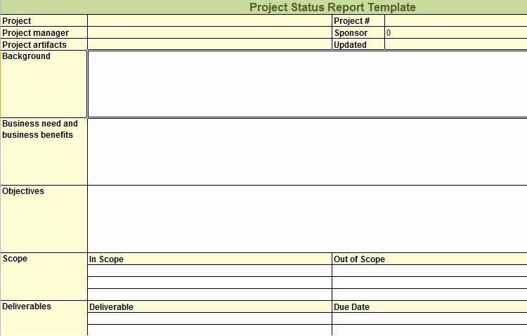 Status Report Template Excel Luxury Weekly Project Status Report Template In Excel