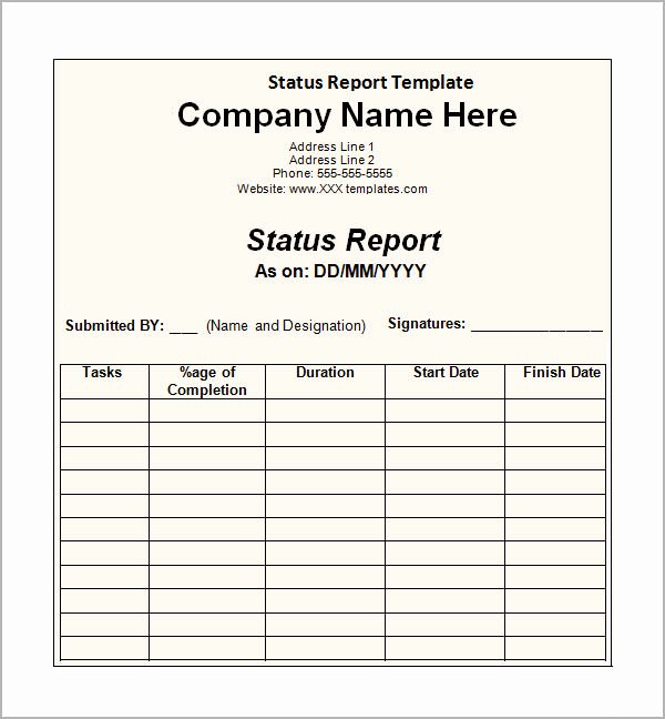 Status Report Template Word Beautiful Sample Status Report 12 Documents In Word Pdf Ppt