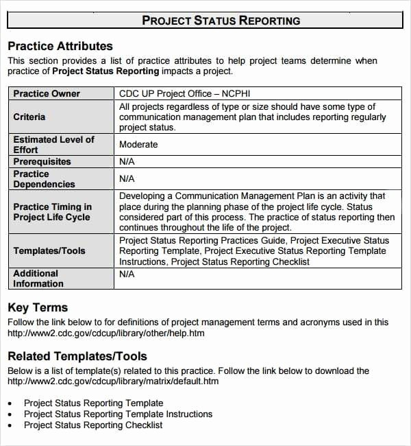 Status Report Template Word Best Of 7 Weekly Status Report Templates Word Excel Pdf formats