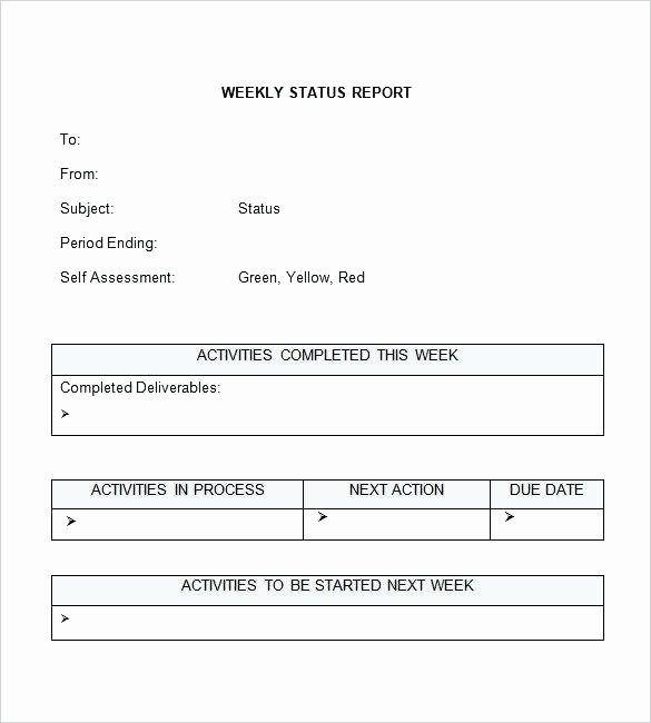 Status Report Template Word Luxury Weekly Report Template Weekly Status Report Template Word
