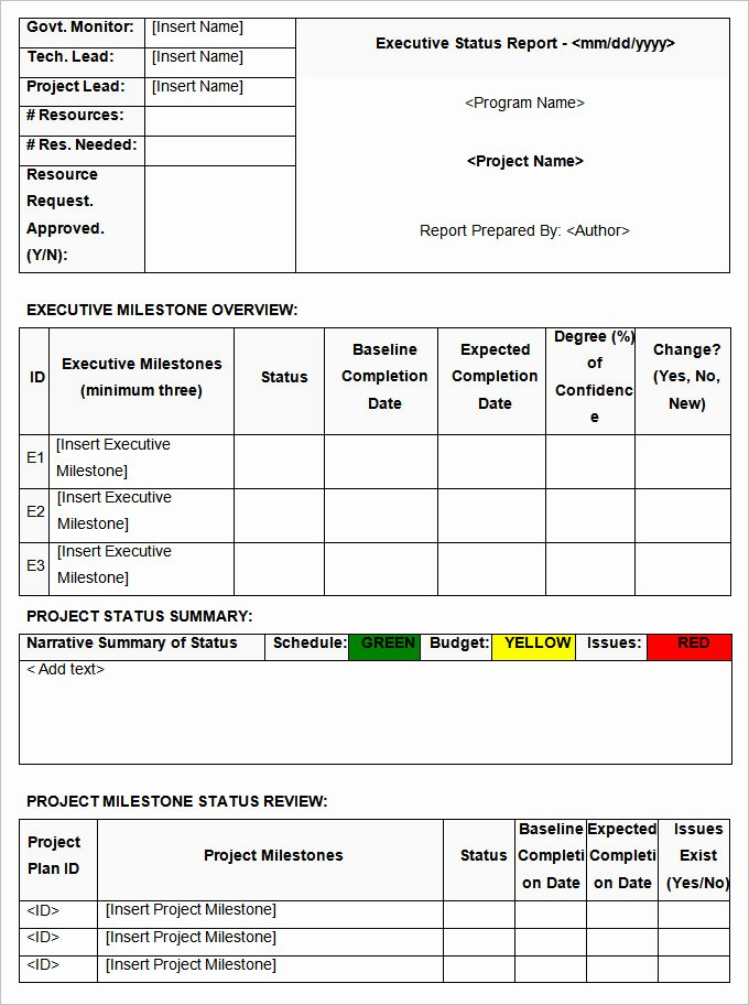 Status Report Template Word Unique Status Report Templates 7 Free Word Documents Download