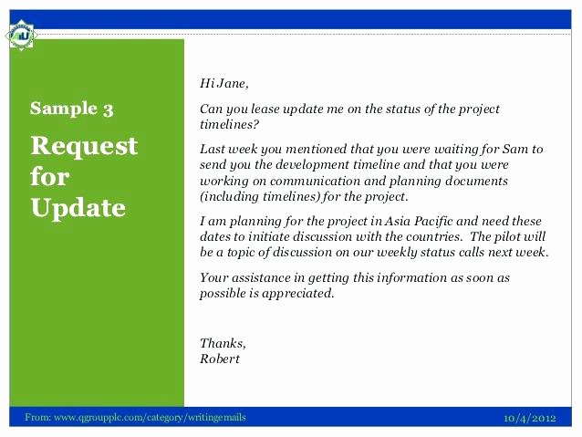 Status Update Email Template Inspirational Project Status Email Template – Flybymedia