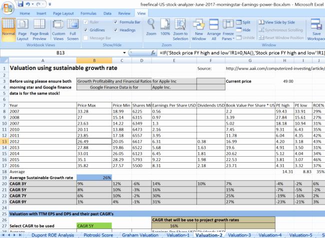 Stock Analysis Excel Template Elegant Stock Analysis Spreadsheet for U S Stocks Free Download