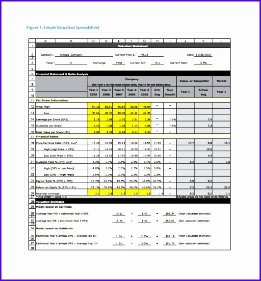 Stock Analysis Excel Template Fresh Example Stock Analysis Excel Template Efflc Beautiful 8