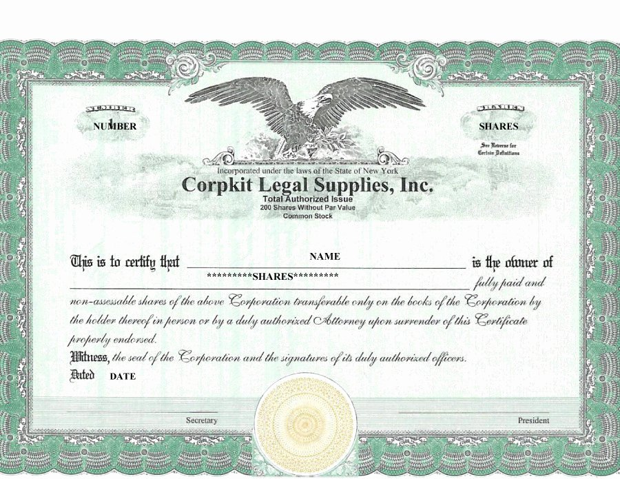 Stock Certificate Template Word Fresh 41 Free Stock Certificate Templates Word Pdf Free
