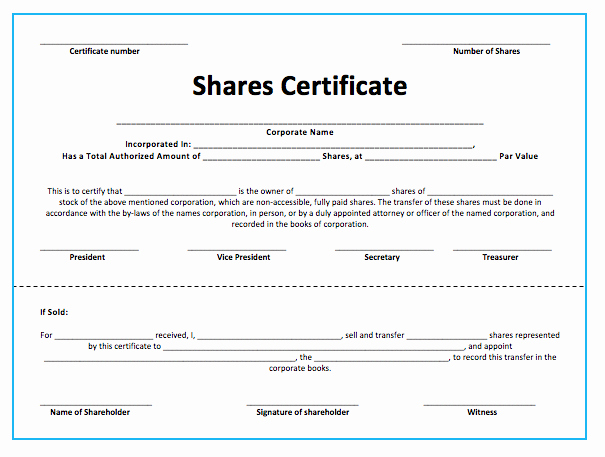 Stock Certificate Template Word New Stock S Certificate Template Microsoft Word Templates
