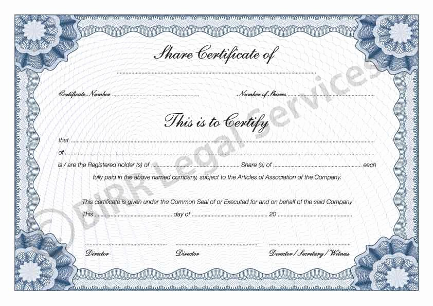 Stock Certificate Template Word Unique 13 Stock Certificate Templates Excel Pdf formats