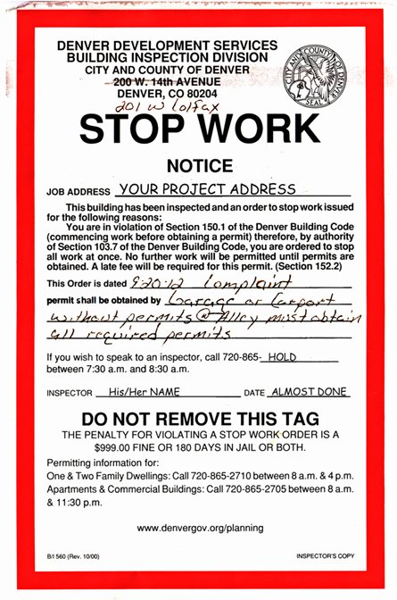 Stop Work order Template Elegant Blog