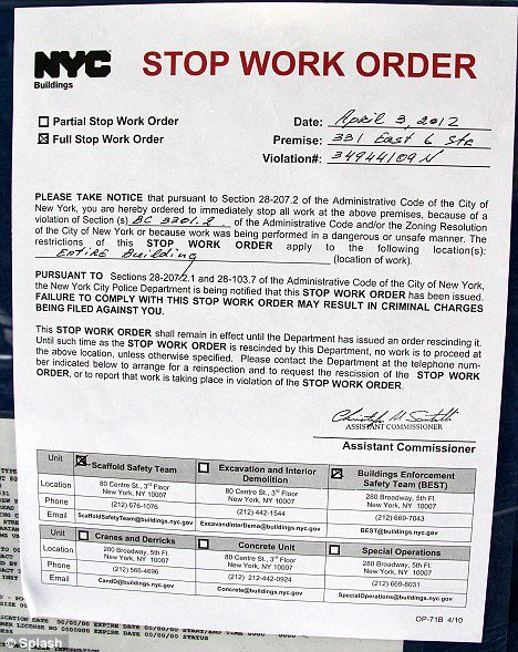 Stop Work order Template Elegant David Schwimmer forced to Stop Construction On Dream Home