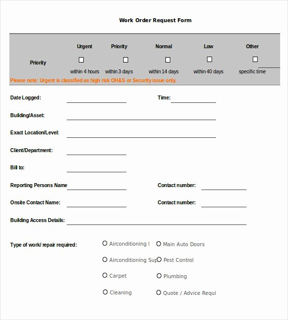 Stop Work order Template Fresh 26 Work order Templates Numbers Pages