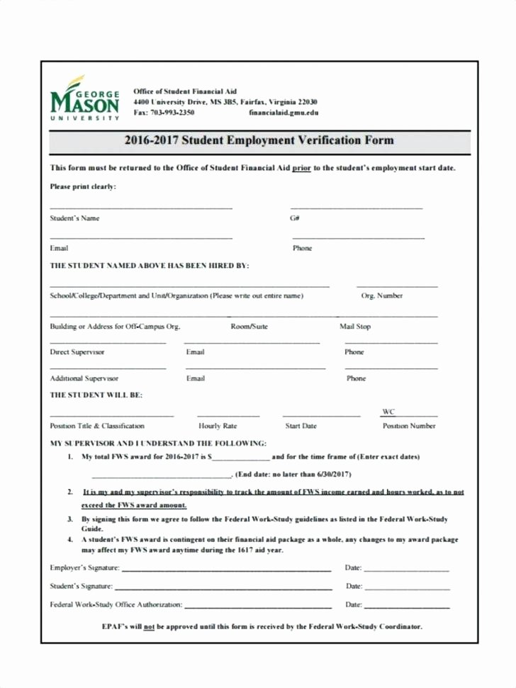 free employee verification form template employment in e