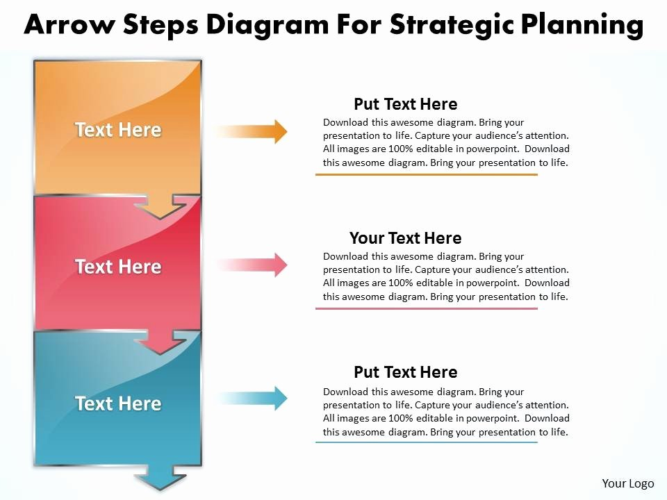 Strat Plan Powerpoint Template Fresh Business Powerpoint Templates Arrow Steps Diagram for