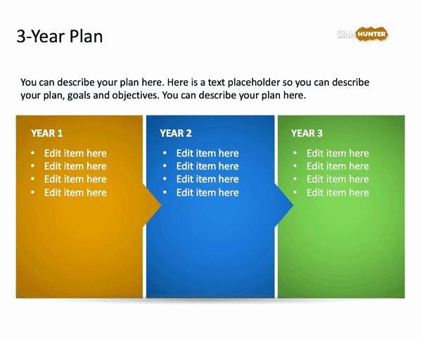 Strat Plan Powerpoint Template Inspirational 3 Year Strategic Plan Powerpoint Template is A Free