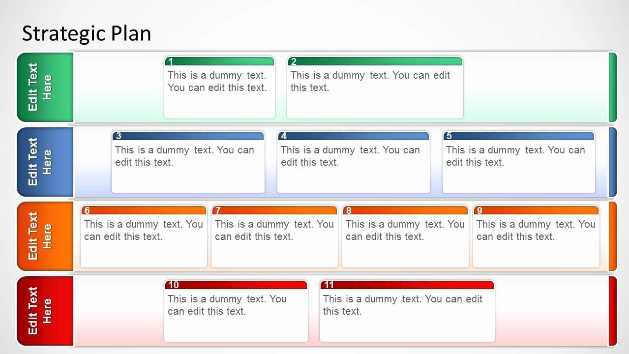 Strat Plan Powerpoint Template Lovely Basic Strategic Plan Template for Powerpoint Slidemodel