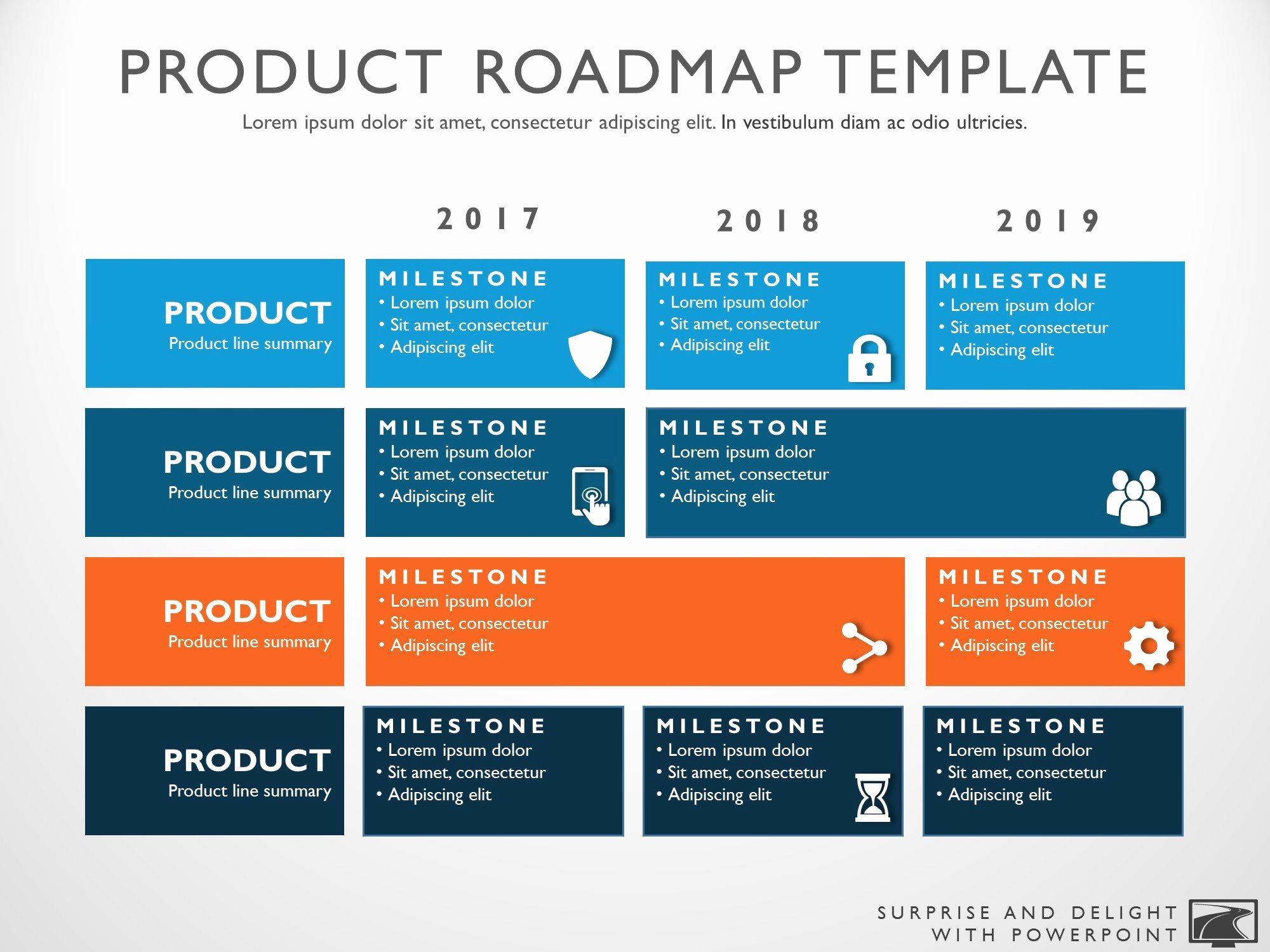 Strat Plan Powerpoint Template Unique Three Phase Business Planning Timeline Roadmapping