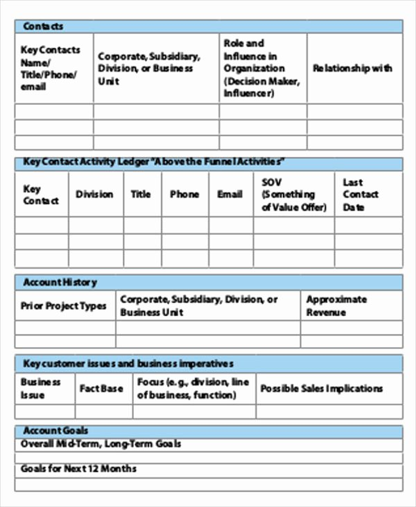 Strategic Account Plan Template Elegant 40 Strategic Plan Templates