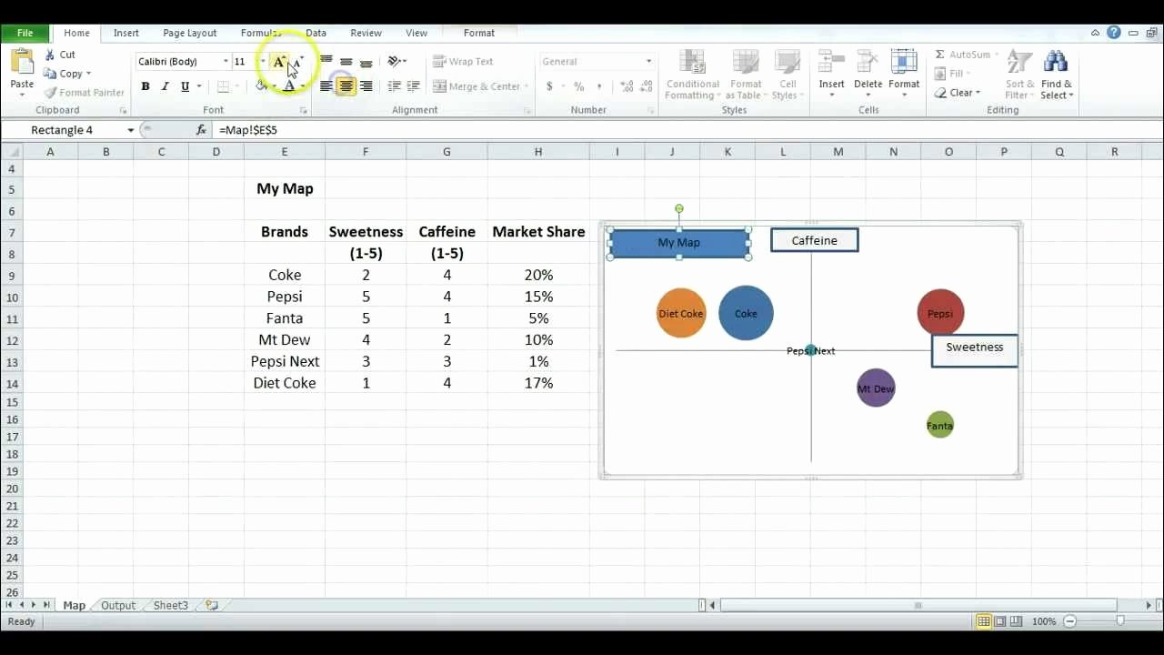 Strategic Group Mapping Template Awesome How to Make A Perceptual Map Using Excel