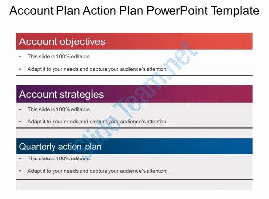 Strategic Plan Powerpoint Template Inspirational Account Plan Action Plan Powerpoint Template