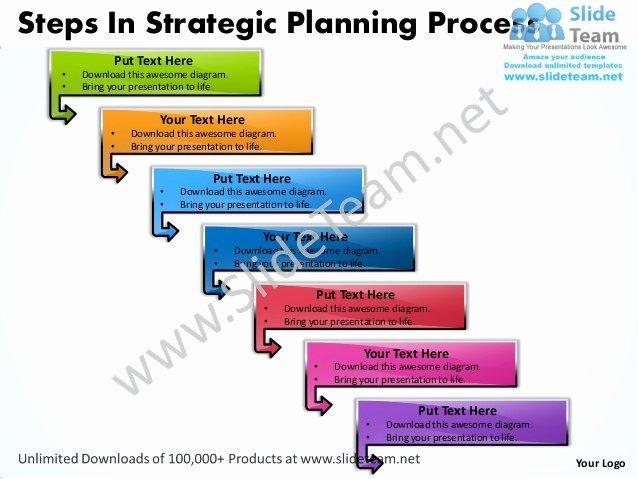 business power point templates steps strategic planning process sales ppt slides