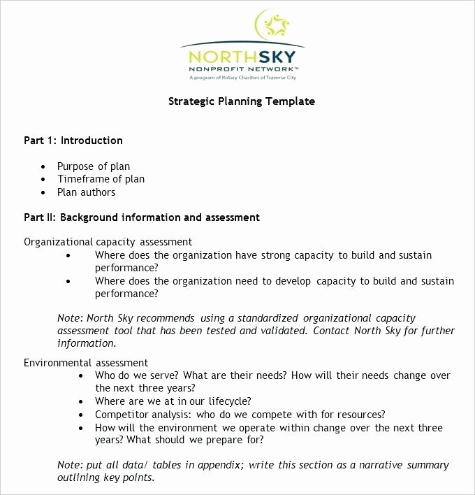 Strategic Plan Template Nonprofit Elegant Strategic Plan Template for Simple Business – Bbfinancials