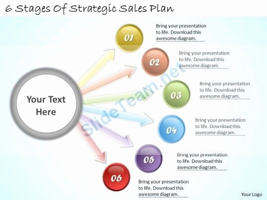 Strategic Plan Template Ppt Lovely 1113 Business Ppt Diagram 6 Stages Of Strategic Sales Plan