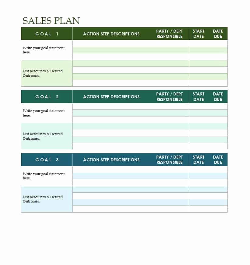 Strategic Planning Template Word Beautiful 32 Sales Plan & Sales Strategy Templates [word & Excel]