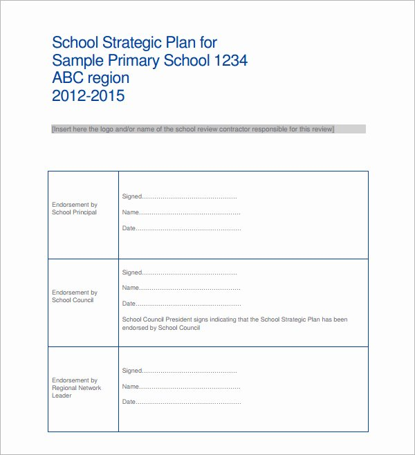 Strategic Planning Template Word Best Of Sample Strategic Plan Templates 10 Free Documents In