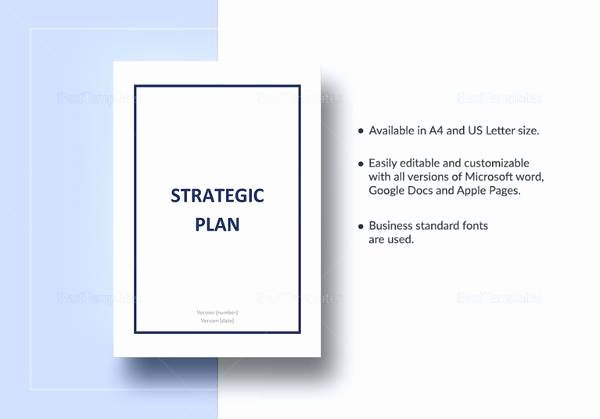 Strategic Planning Template Word Inspirational 17 Strategic Plan Templates Pdf Word