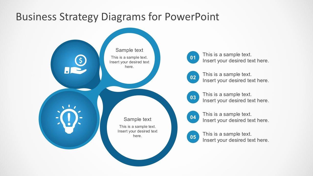 Strategy Plan Template Powerpoint Beautiful Free Business Strategy Diagram Powerpoint Slidemodel