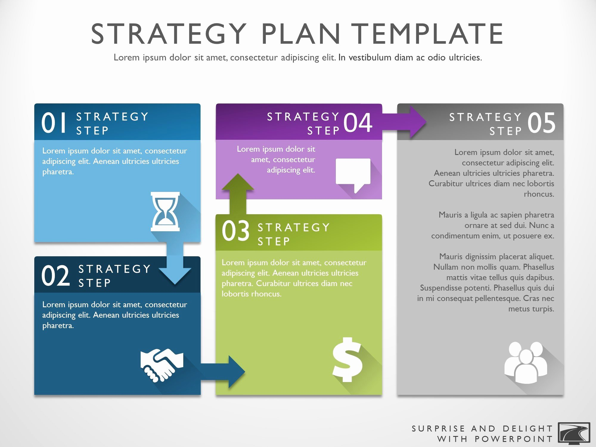 Strategy Plan Template Powerpoint Elegant Business Strategy Template