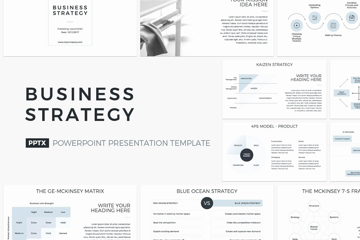 Strategy Plan Template Powerpoint Lovely Business Strategy Powerpoint Powerpoint Templates