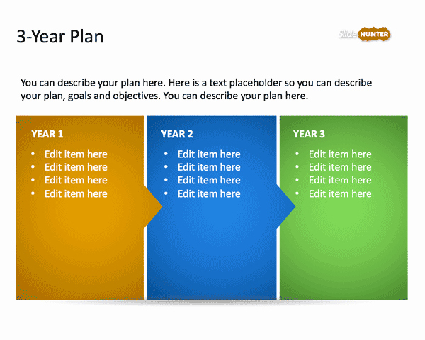 Strategy Plan Template Powerpoint New 3 Year Strategic Plan Powerpoint Template is A Free