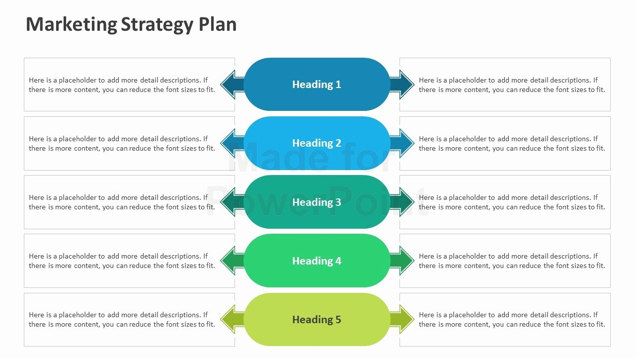 Strategy Plan Template Powerpoint New Marketing Strategy Plan Editable Powerpoint Template