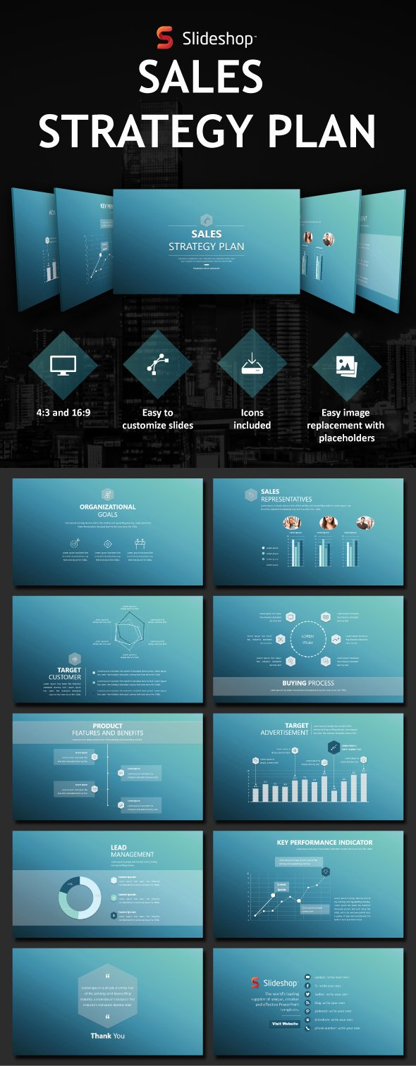 Strategy Plan Template Powerpoint New Sales Strategy Plan by Slideshop