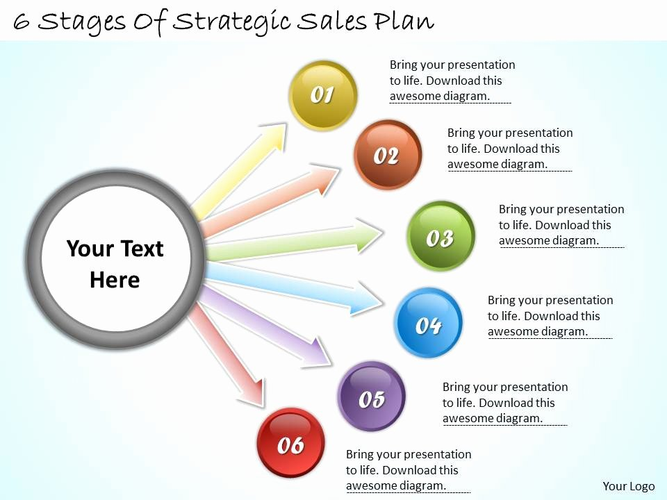 Strategy Planning Template Ppt Beautiful 1113 Business Ppt Diagram 6 Stages Strategic Sales Plan