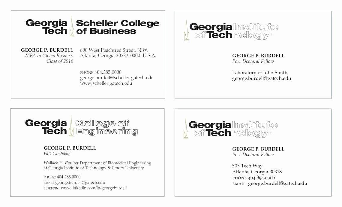 Student Business Card Template Awesome Virginia Tech Graduate School Luxury Petitive but
