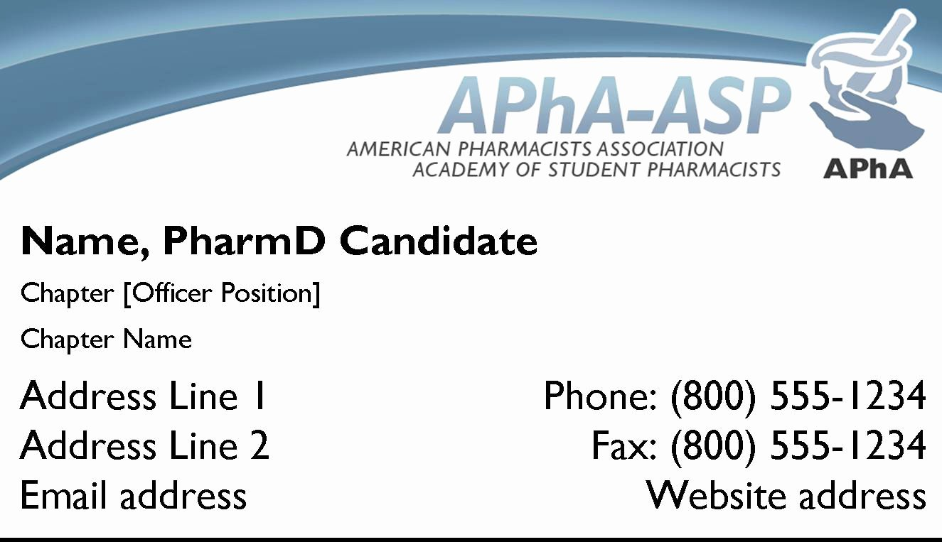 Student Business Card Template Beautiful Apha asp Logos for Downloading
