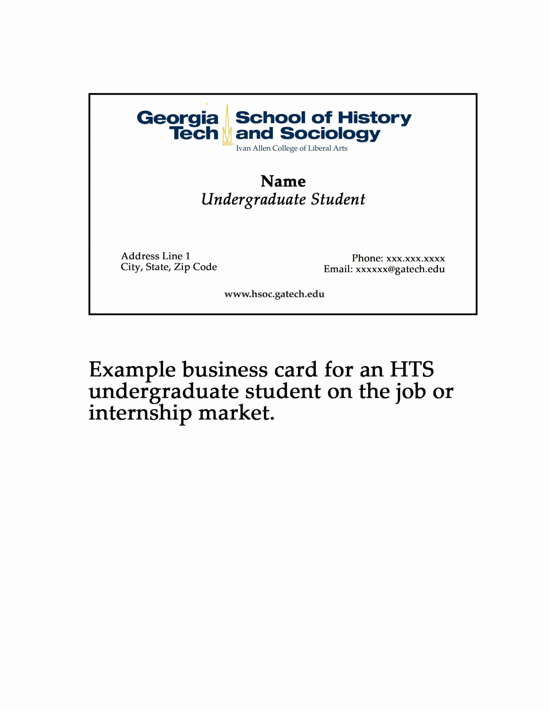 Student Business Card Template Best Of Phd Student Business Card New Template for Graduate