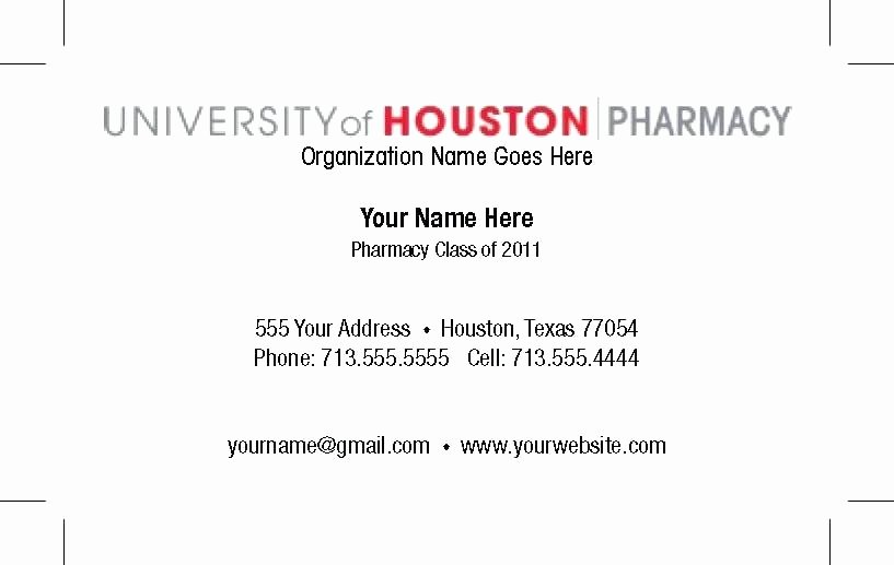 Student Business Card Template New Business Card Template Phd Candidate Download