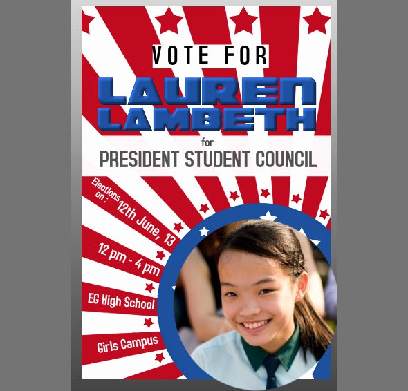 Student Council Poster Template Lovely 34 Campaign Flyers Word Psd Ai Vector Eps format