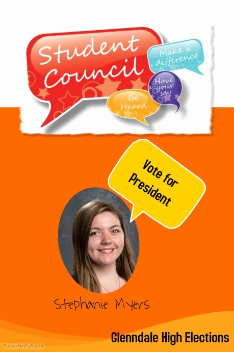 Student Council Poster Template Lovely Campaign School Poster Template