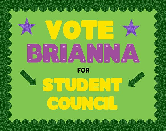 Student Council Poster Template Luxury 12 Useful Student Council Posters