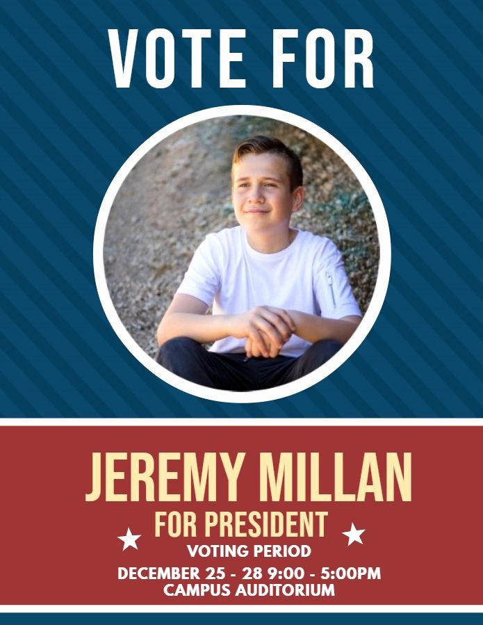 Student Council Poster Template New School Student Council Election Poster Flyer Template