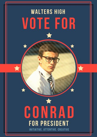 Student Council Poster Template Unique President Campaign Poster Templates by Canva